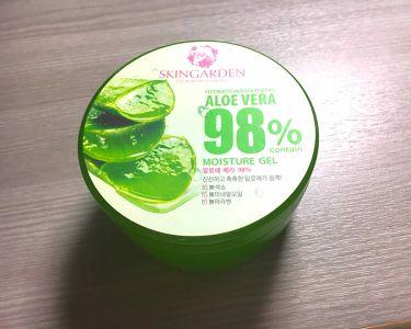 アロエベラ98% モイスチャージェル/スキンガーデン/フェイスクリームを使ったクチコミ(1枚目)
