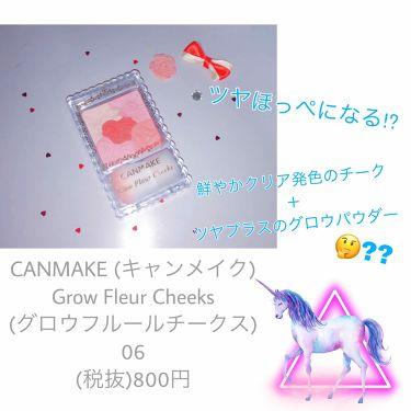 姫花 🐻さんの「キャンメイクグロウフルールチークス<パウダーチーク>」を含むクチコミ