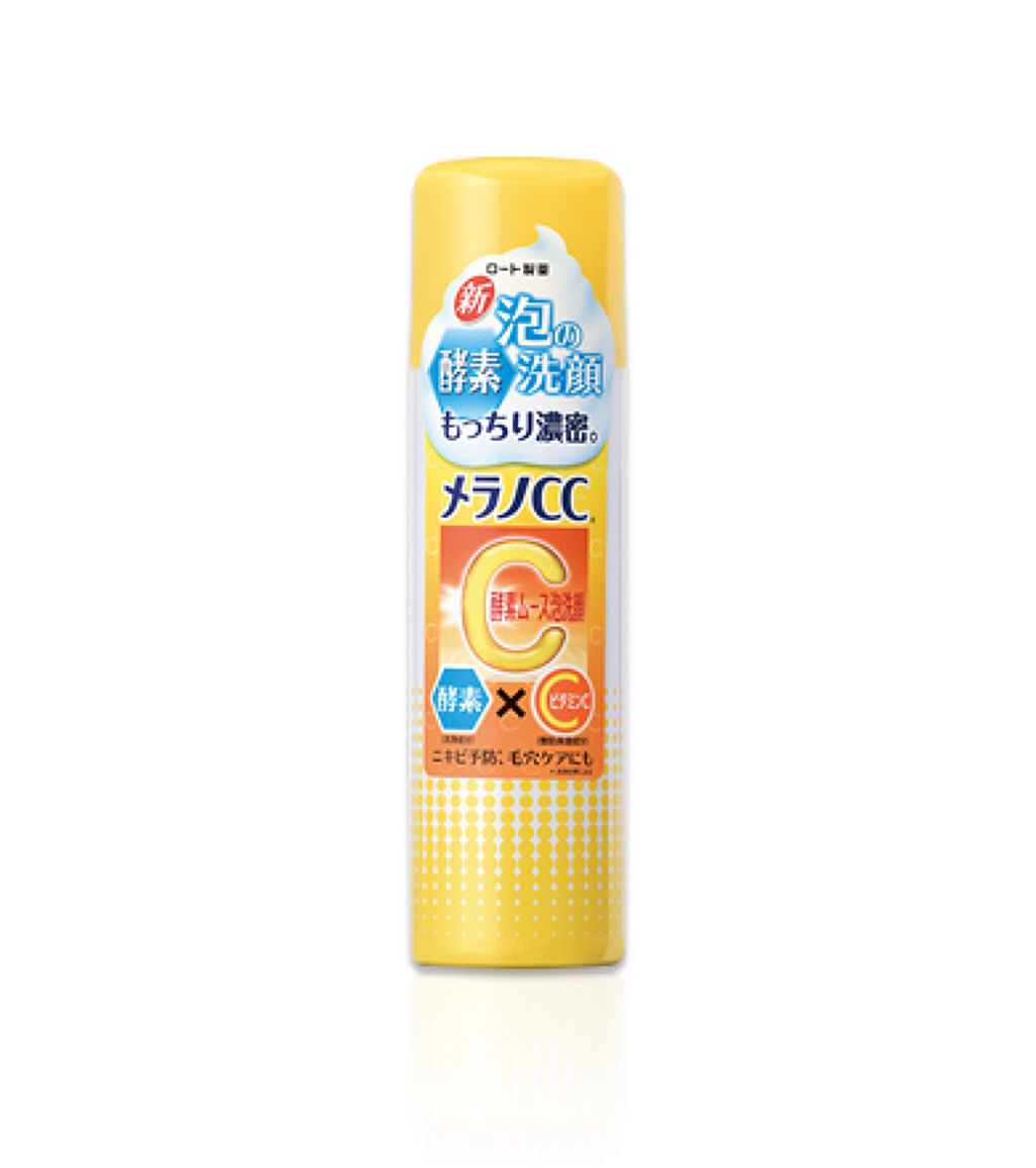 酵素ムース泡洗顔 メンソレータム メラノCC