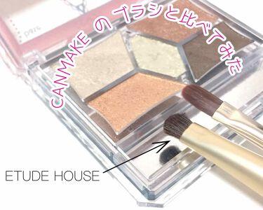 アイシャドウブラシ(ポイント用)/ETUDE HOUSE/メイクブラシを使ったクチコミ(3枚目)