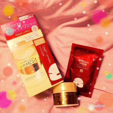 スペシャルジェルクリームA(オイルイン)/アクアレーベル/オールインワン化粧品を使ったクチコミ(1枚目)
