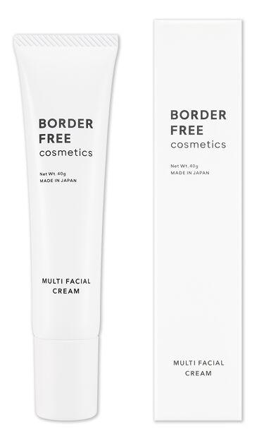 2021/10/25発売 BORDER FREE cosmetics マルチフェイシャルクリーム