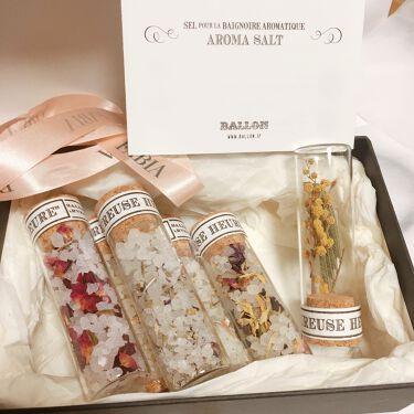 AROMA BATH SALT GIFT SET/BALLON/入浴剤を使ったクチコミ(2枚目)
