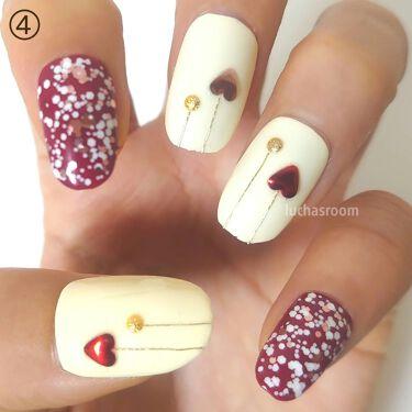 【画像付きクチコミ】今回はピンク、レッド、ホワイトを用いた甘いデザイン♡すべてにハートもあしらっていますので、#バレンタインネイルにも◎①ピンクレッドとホワイトの#ドットネイル💅お花のレースのシールも加え、ガーリーに仕上げました✨②ただでさえかわいい#チ...
