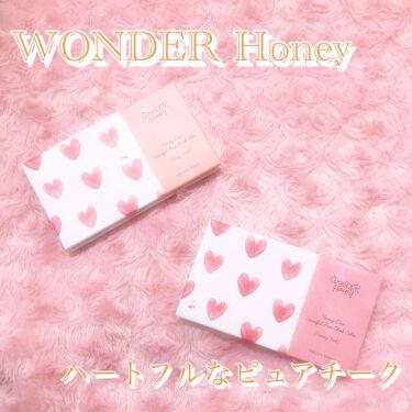 ワンダーハニー ハートフルなピュアチーク/VECUA Honey/パウダーチークを使ったクチコミ(1枚目)