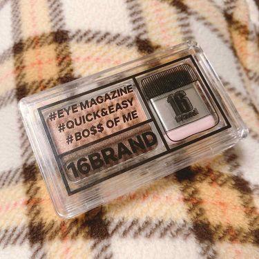 16 EYE MAGAZINE/16brand/パウダーアイシャドウを使ったクチコミ(1枚目)