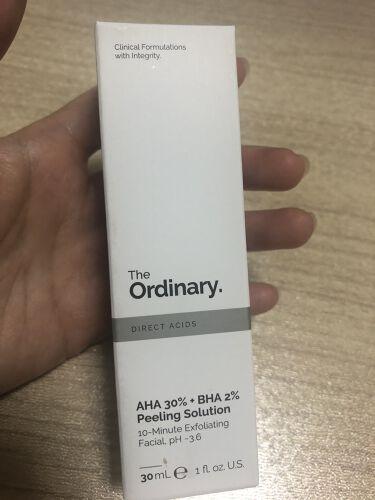 AHA 30% + BHA 2% Peeling Solution/The Ordinary/ピーリングを使ったクチコミ(2枚目)