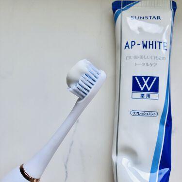 薬用APホワイトNA(リフレッシュミント)/サンスター/歯磨き粉を使ったクチコミ(2枚目)