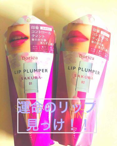リッププランパー プラスカラー/Borica/リップケア・リップクリームを使ったクチコミ(1枚目)