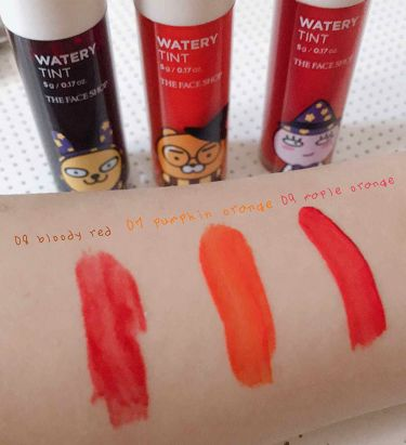 Watery Tint/ザ フェイスショップ/口紅を使ったクチコミ(2枚目)