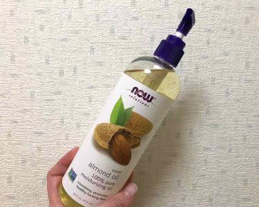 Sweet Almond Oil/Now Foods/フェイスオイルを使ったクチコミ(2枚目)