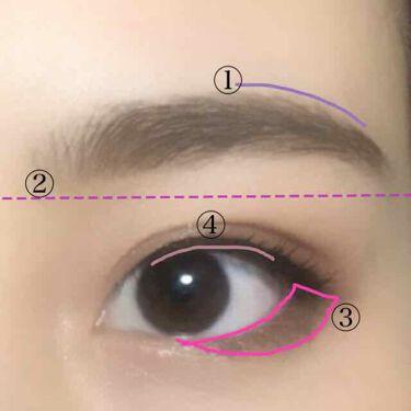 【画像付きクチコミ】久しぶりの投稿です!今日は印象別のアイシャドウ、アイブローの入れ方を半顔メイクで比べてみました!画像左目をクール系、右目をキュート系にして解説それぞれしてるので良かったら参考にしてください😊----------------------...