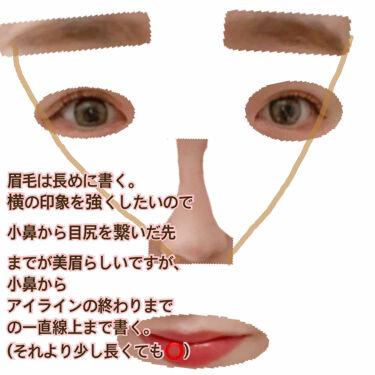 【画像付きクチコミ】脱!面長メイク💄①シェーディング編特にノーズシェーディングは気を使っていて、縦の印象をあまり付けたくないので鼻筋すべに塗らず鼻根あたりまでにします。陣中も短くしたいので鼻の真下。唇の真下もシェーディングします。②ハイライト編ハイライト...