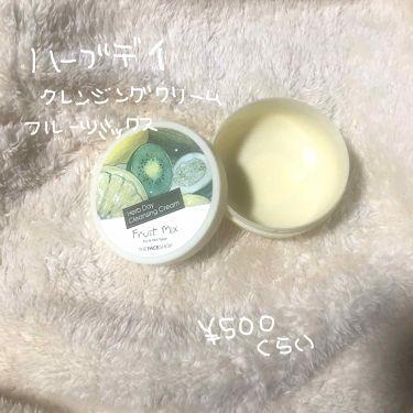 ハーブデイ クレンジングクリーム フルーツミックス /ザ フェイスショップ/クレンジングクリームを使ったクチコミ(1枚目)