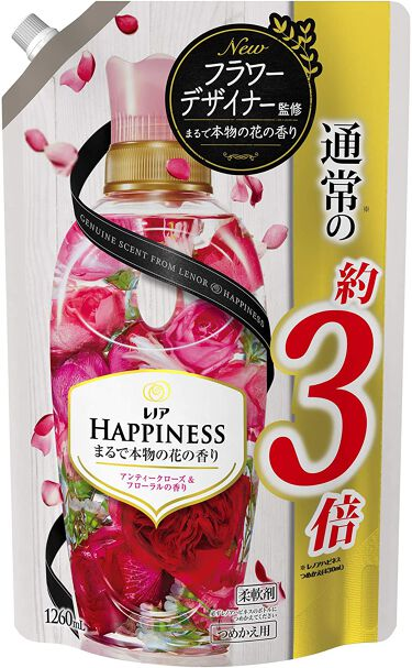 レノアハピネス アンティークローズ&フローラルの香り つめかえ1.26L