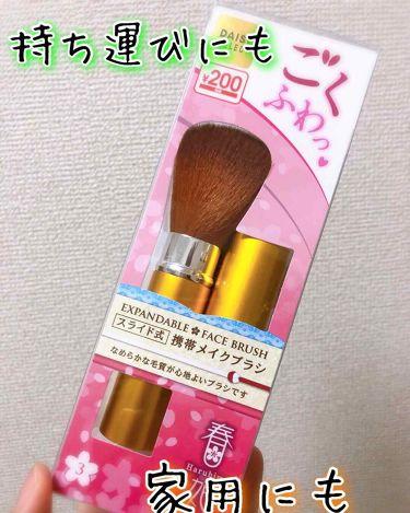 ごくふわっ春姫スライド式携帯メイクブラシ/DAISO/メイクブラシを使ったクチコミ(1枚目)