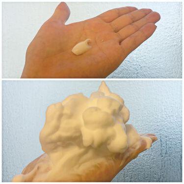 【画像付きクチコミ】洗顔でスキンケア!逆さにしても落ちない濃密泡。糸引く洗顔料、超実力派でした✨KANEBOコンフォートストレッチィウォッシュレビューです!------------------朝の洗顔は水派OLシオリです。話題の「糸引く」洗顔料、カネボウ...