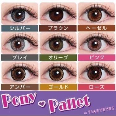 ポニーパレット ワンデー by ティアリーアイズ/Pony Pallet/カラーコンタクトレンズを使ったクチコミ(3枚目)