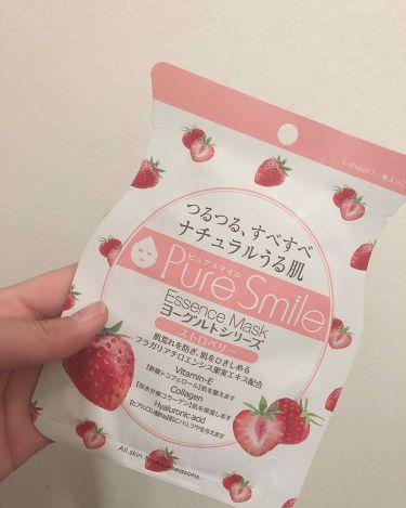ヨーグルトシリーズ ストロベリー/Pure Smile(ピュアスマイル)/シートマスク・パックを使ったクチコミ(1枚目)