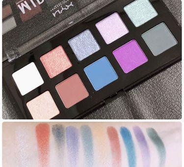 ミッドナイトカオス シャドウパレット/NYX Professional Makeup/パウダーアイシャドウを使ったクチコミ(3枚目)