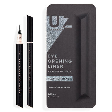 UZU EYE OPENING LINER 7 SHADES OF BLACK PLATINUM-BLACK