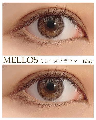 メローズワンデーミューズブラウン(Mellows 1day Muse Brown)/OLOLA/カラーコンタクトレンズを使ったクチコミ(1枚目)