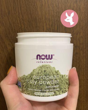 ヨーロピアン・クレイ・パウダー/Now Foods/洗い流すパック・マスクを使ったクチコミ(1枚目)