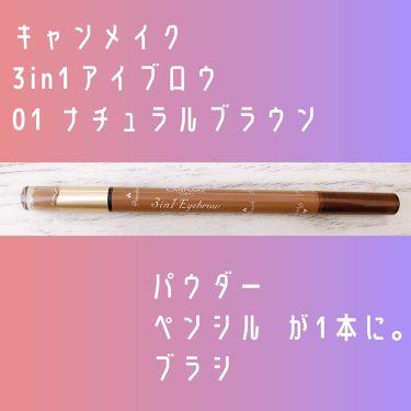 3in1アイブロウ/CANMAKE/アイブロウペンシルを使ったクチコミ(1枚目)