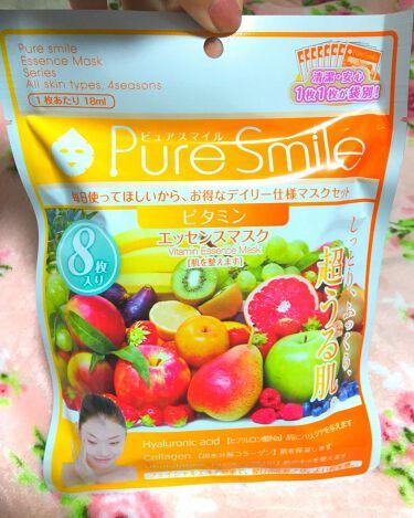 ゆっちろ🐻さんの「Pure Smile(ピュアスマイル)エッセンスマスク 毎日マスク8枚セット ビタミン<シートマスク・パック>」を含むクチコミ