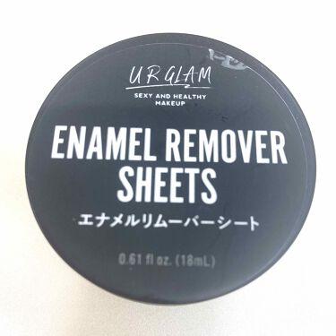 UR GLAM ENAMEL REMOVER SHEETS(エナメルリムーバーシート)/DAISO/除光液を使ったクチコミ(1枚目)