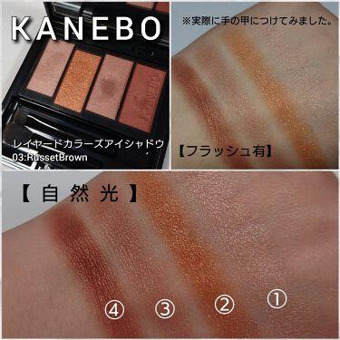 レイヤードカラーズアイシャドウ/KANEBO/パウダーアイシャドウを使ったクチコミ(3枚目)