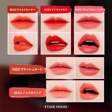 カラフルタトゥーティント/ETUDE HOUSE/口紅を使ったクチコミ(2枚目)