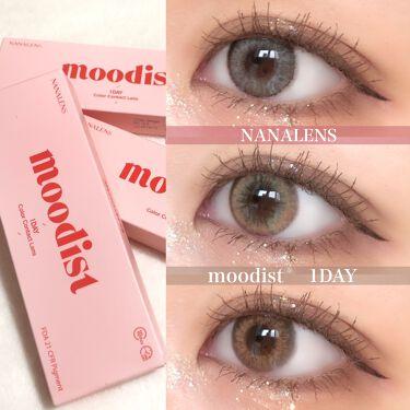 MOODIST 1day/NANA LENS/カラーコンタクトレンズを使ったクチコミ(1枚目)