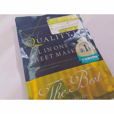 yunさんの「クオリティファーストオールインワンシートマスク ザ・ベスト<シートマスク・パック>」を含むクチコミ