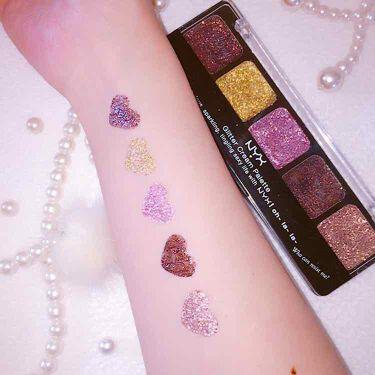 maimiさんの「NYX Professional Makeupグリッタークリームパレット<ジェル・クリームアイシャドウ>」を含むクチコミ
