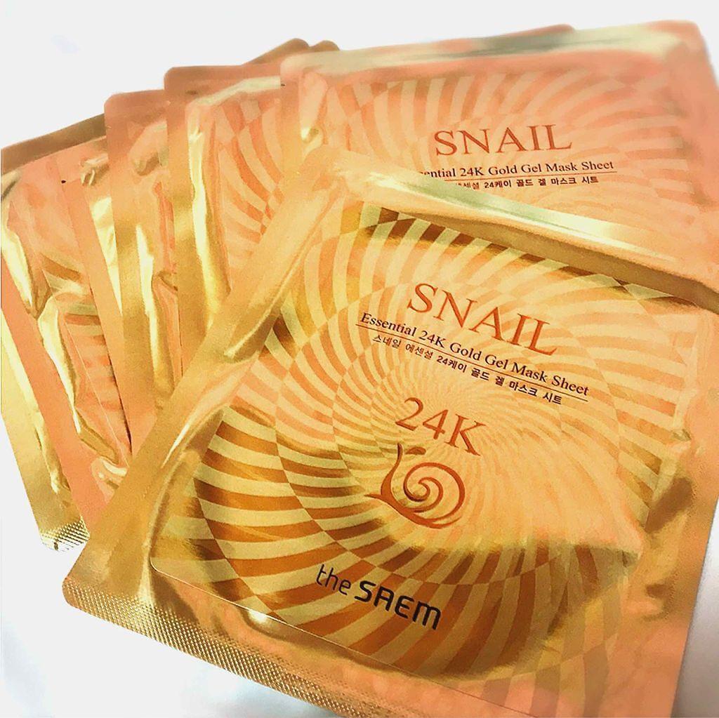 the SAEM(ザセム/韓国) SNAIL Essential 24K Gold Gel Mask Sheet