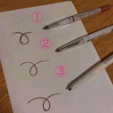【画像付きクチコミ】品番:①03、②05、③01それぞれ発色もよく描きやすいですただ、もちがよくないので気付いたら眉毛がなくなってます(笑)