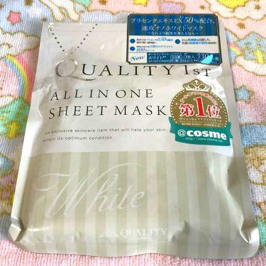 撫子さんの「クオリティファーストオールインワンシートマスク ホワイト<シートマスク・パック>」を含むクチコミ
