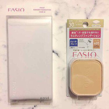 ラスティング ファンデーション WP/FASIO/パウダーファンデーションを使ったクチコミ(1枚目)