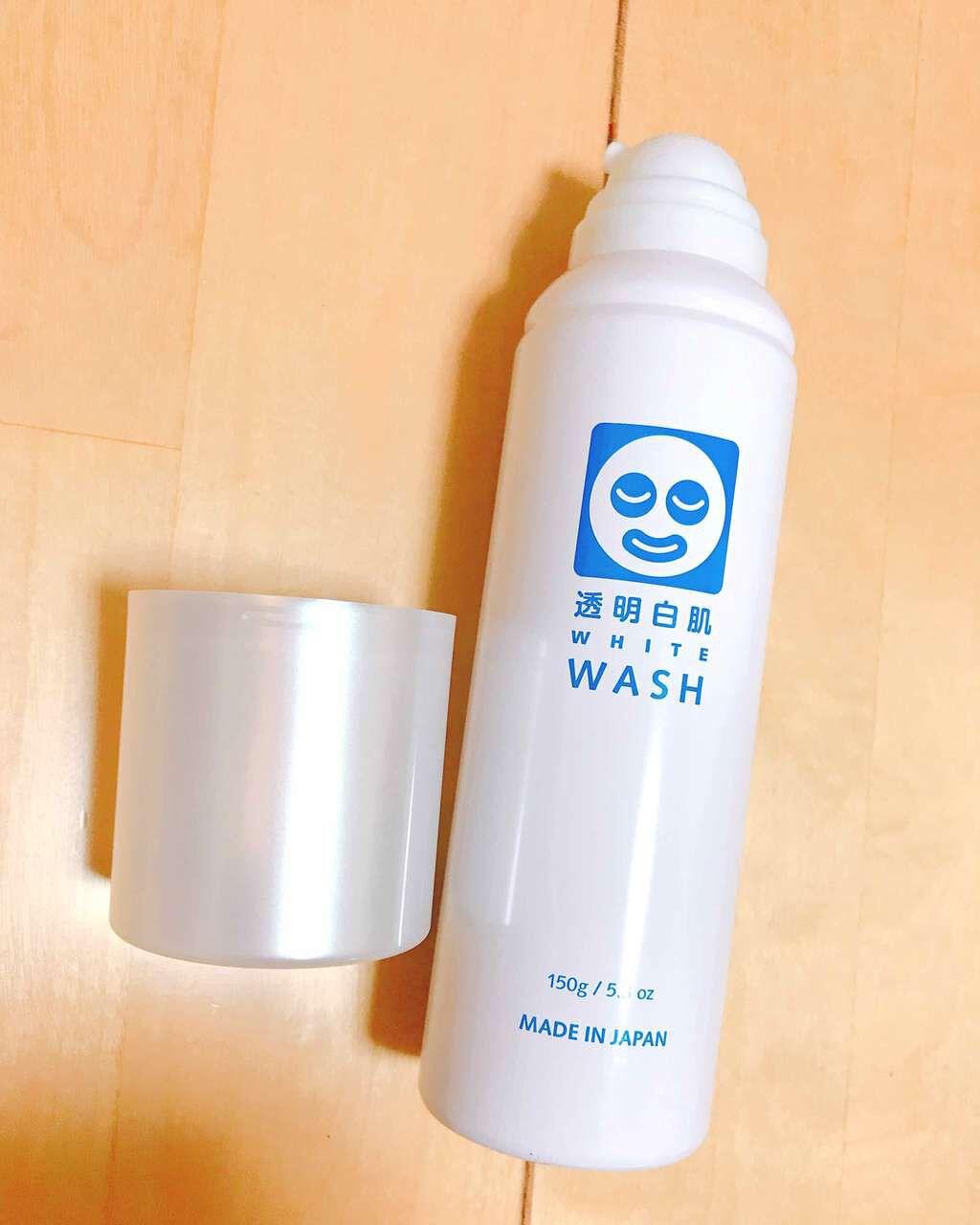ホワイトウォッシュN/透明白肌(トウメイシロハダ)/洗顔フォームを使ったクチコミ(1枚目)