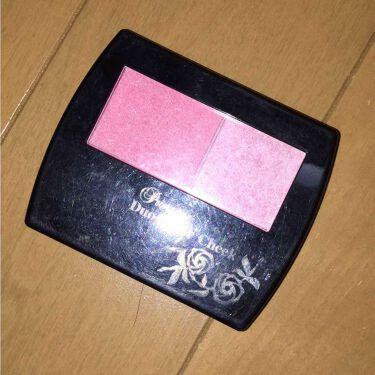 エルファー プリンセスデュオカラーチーク A/DAISO/パウダーチークを使ったクチコミ(1枚目)