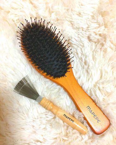 つやつや天然毛のミックスブラシ/マペペ/ヘアケアグッズを使ったクチコミ(2枚目)