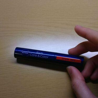 リッチケア&カラーリップ/ニベア/リップケア・リップクリームを使ったクチコミ(2枚目)