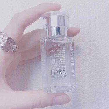 高品位「スクワラン」/HABA/フェイスオイル・バームを使ったクチコミ(1枚目)