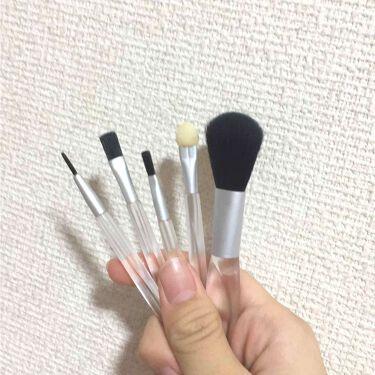 春姫化粧ブラシセット/DAISO/メイクブラシを使ったクチコミ(2枚目)