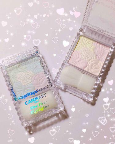 pink♡♡さんの「キャンメイクグロウフルールハイライター<プレストパウダー>」を含むクチコミ