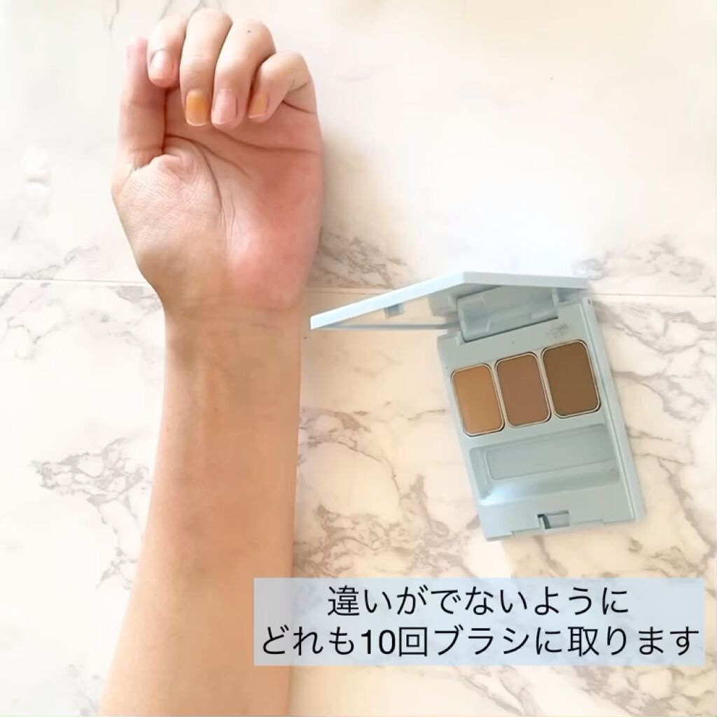 アイブロウブラシ 熊野筆/WHOMEE/メイクブラシを使ったクチコミ(4枚目)