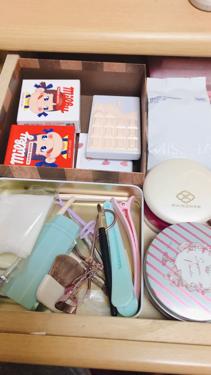 アクリル小物収納・3段/無印良品/その他化粧小物を使ったクチコミ(4枚目)