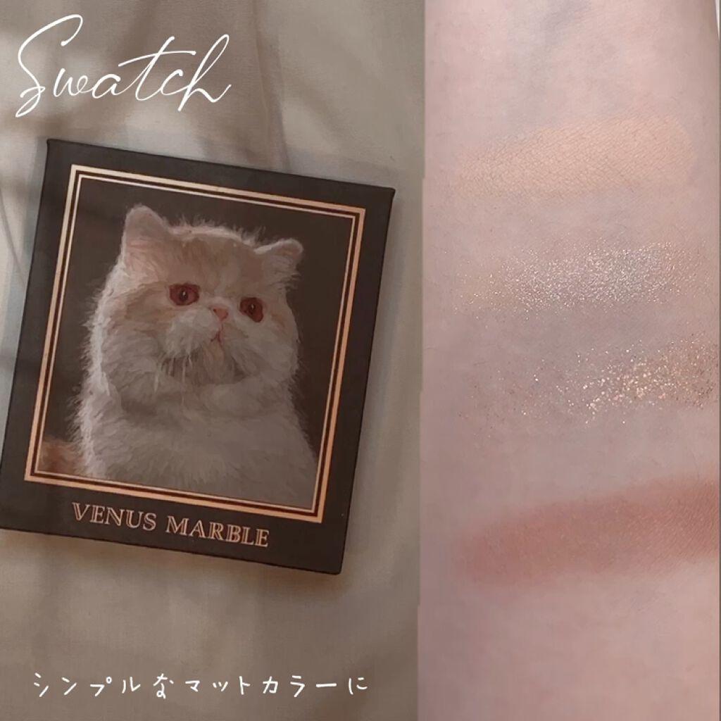 アイシャドウ猫シリーズ/Venus Marble(ヴィーナスマーブル)/パウダーアイシャドウを使ったクチコミ(3枚目)