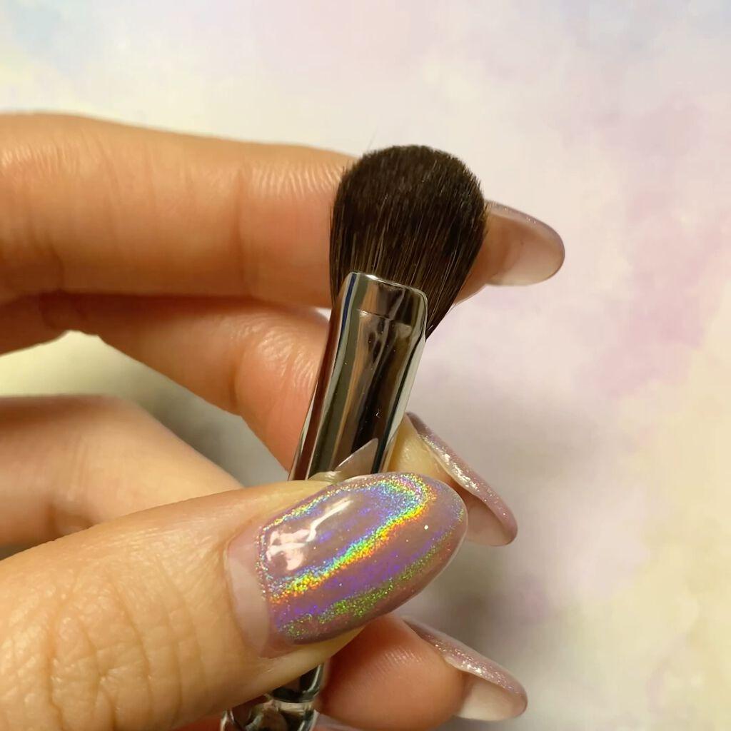 アイブロウブラシ 扇型 熊野筆/WHOMEE/メイクブラシを使ったクチコミ(2枚目)